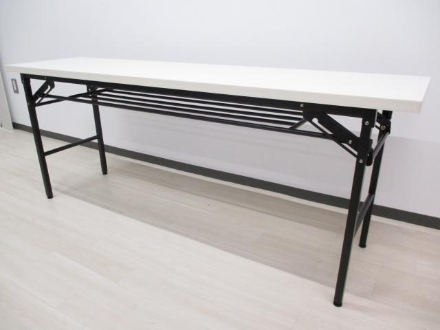 【40台入荷‼】井上金庫製 会議用折り畳みテーブル■即日持ち帰り可能‼ミーティング、食事用、何かと便利なテーブルです‼ [最安価格]
