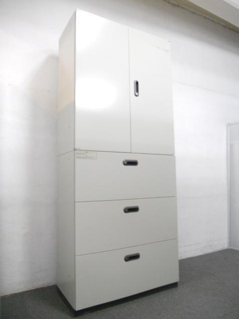 【大量収納にオススメ!】■両開き+3段ラテラル書庫セット ■プラス製(PLUS)スチールキャビネット