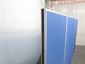 ■ローパーティション ブルー(布張り)■W1200×H1600mmタイプ【衝立パネル】 |ローパーティション(布貼リタイプ) (中古)