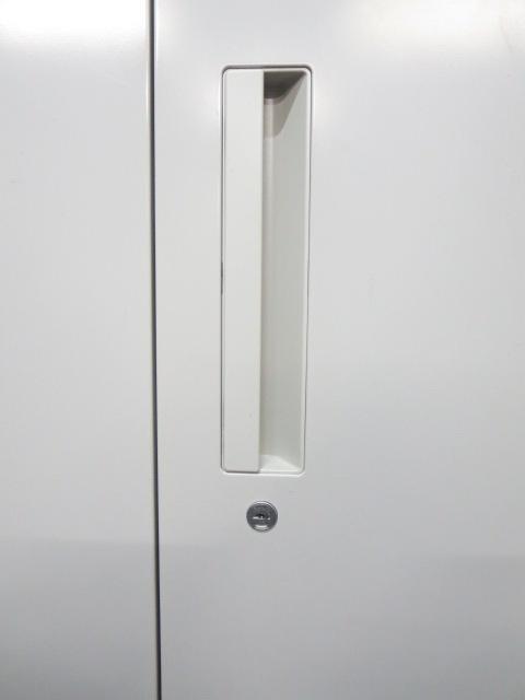【使いやすさが人気!】■ウチダ HSシリーズ ■両開き書庫 H1100mm ペールグレイ【スチールキャビネット】                         HS                                     中古