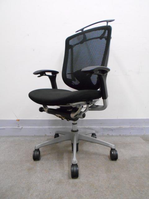 【肘傷あり】岡村製作所 コンテッサ 高機能チェア 高級チェア 事務椅子[Ω]