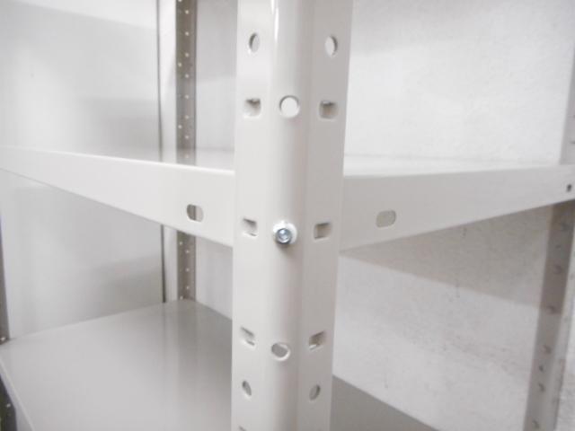 【組立簡単なワンボルト式!】■軽量ラック W1500×D450mm【耐荷重150kg/段】                         スチールラック                                     新品