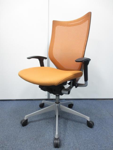 【憧れの高機能チェア】オカムラの代表的な高級チェア!オレンジがオフィスを明るくします!