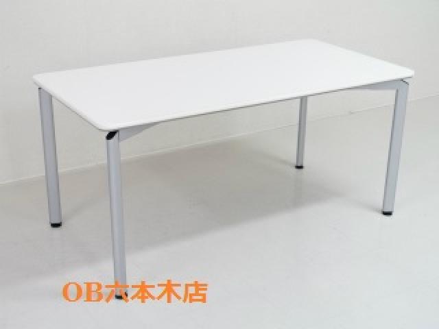 【地方倉庫在庫品】広さを感じさるホワイトカラーテーブル!!【785】【RA】
