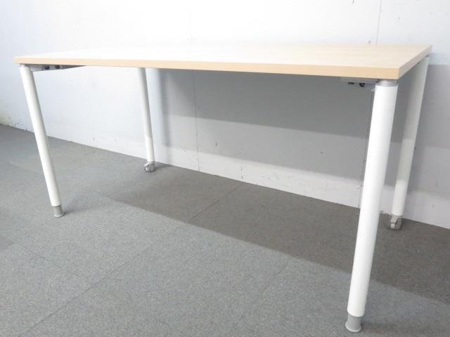 ■オカムラ ミーティングテーブル ■幅1400mm ナチュラル(木目)【ワークデスク】