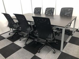 【5セット以上揃います】クールなミーティングスペースにいかがですか?6名様セット!