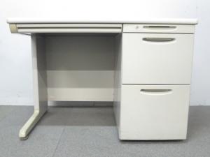 ■オカムラ製 片袖デスク W1000mm【収納スペース充実で使いやすい!】[SD-V Desk system](中古)
