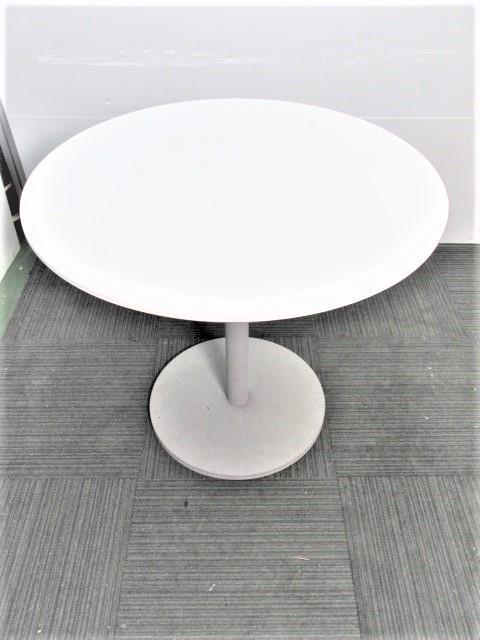【会議用、綺麗な天板丸テーブル】