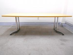 [6~8名様向け][幅2400㎜][新品M価格30万円以上!]大型会議用テーブル オカムラ ラティオシリーズ[RATIO](中古)