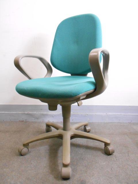 [定番][迷ったらコレ!]事務椅子 オフィスチェア ループ肘付き