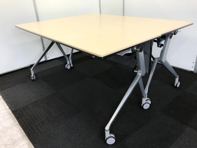 【2台並べてミーティングテーブルに!】オカムラ製のスタックテーブルを並べてみました!【幅1500奥行1200高さ720サイズ】