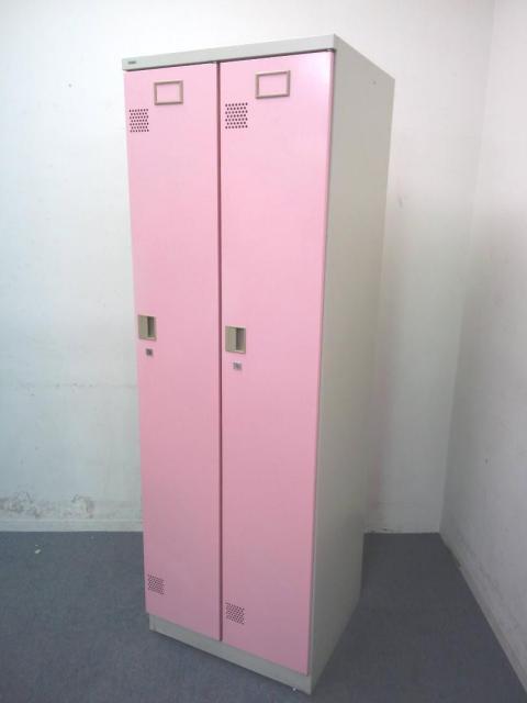 【レア】|2人用ロッカー|更衣用|女性に人気のピンクカラー!