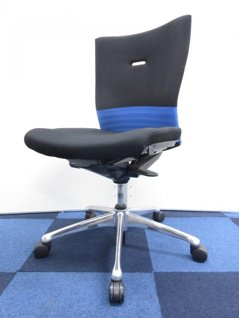 【6脚揃います!!】異なる固さのクッションを採用、座り心地に定評有り!!【シームレス/ブルー】