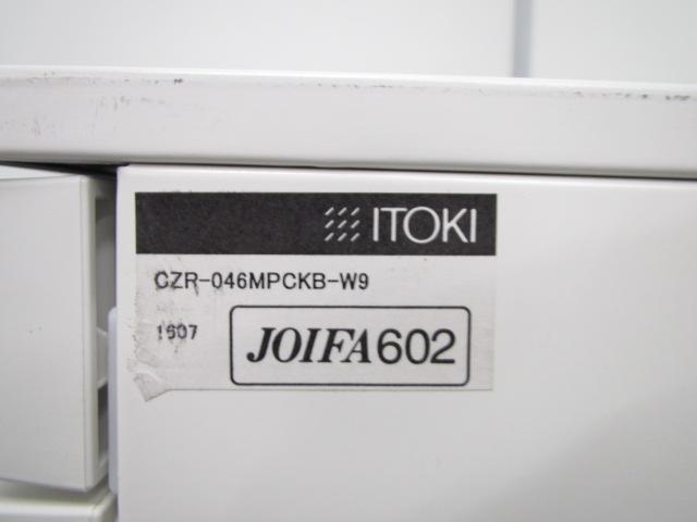 [状態良好][ホワイトカラー]3段ワゴンキャビネット キャスター付き イトーキのNEW定番シリーズ CZRシリーズ!|CZR(中古)_12