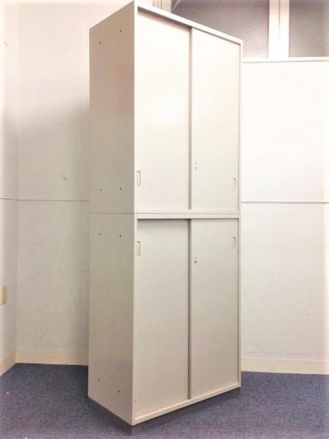 【4セット入荷】ウチダ SU-2 全6段収納可能な大容量収納!! 引戸タイプ 小規模オフィスの強い味方!!