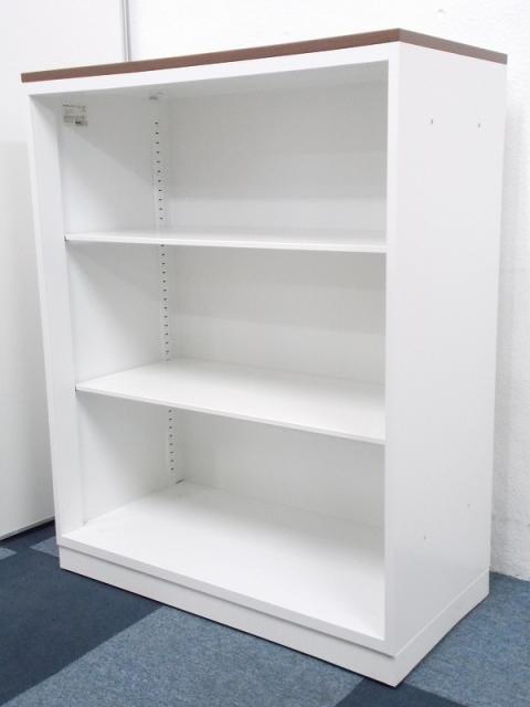 【流行の家具が4台入荷!!】状態良好!!オフィスを明るくみせるホワイトのキャビネット!!木目調天板付き!!