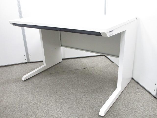 【W1100サイズ】使い勝手の良いサイズのホワイトデスク|イトーキ|平机|