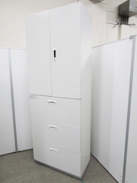 【10台入荷】スリムサイズ、ホワイトカラーの書庫セット|W800×D400|