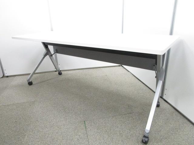 【4台入荷】収納可能なサイドスタックテーブル|ホワイト|キャスター付き