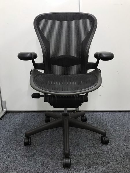 【ロット数入荷】アーロンチェア(ランバーサポート付)Bタイプ 座り心地は折り紙付き!|アーロンチェア[Aeron chair](中古)