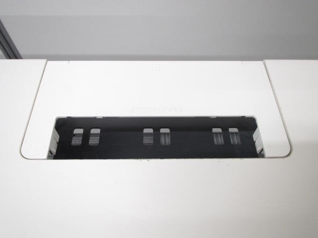 [キャスター付き][プリンター台としてもお勧め]オフィスデスク 移動も楽々 ストッパー付き W1200 D700 H700 その他(中古)_11