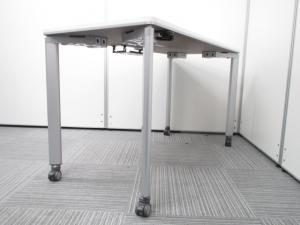 [キャスター付き][プリンター台としてもお勧め]オフィスデスク 移動も楽々 ストッパー付き W1200 D700 H700|その他(中古)