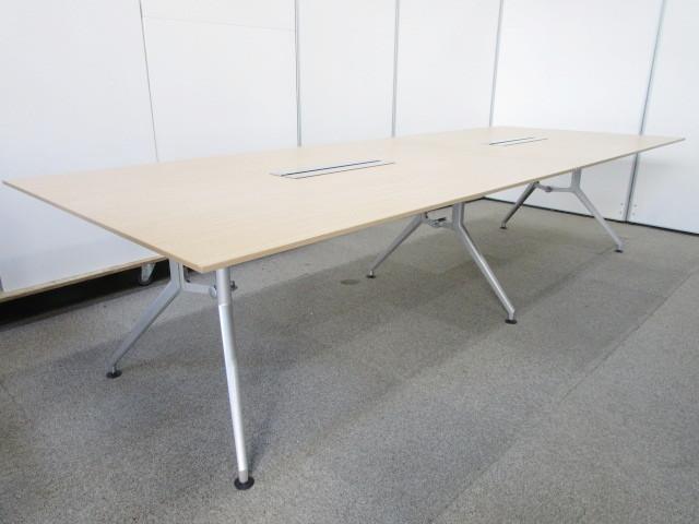 【6~8名用サイズ】W3200サイズの大型会議テーブル|人気のイトーキDDシリーズ|2枚天板|