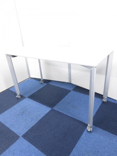 【片面モデル】オフィスデスク兼ミーティングテーブルとしてもご使用可能!!【便利なキャスター付き】