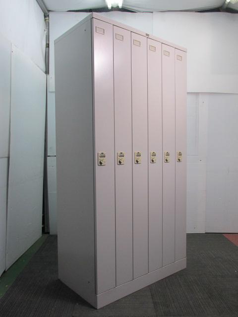 【ダイヤル式】内田洋行製6人用ロッカー 設置スペースの節約にオススメ♪