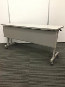 【在庫入替セール品】サイドスタックテーブル 折り畳み可能なキャスター付きテーブル|ちょっとした作業台として|W1500タイプ【1台限定】