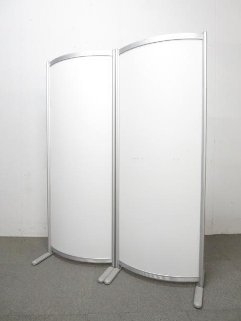 ■パーテーション2台セット ■ホワイト(乳白色樹脂)【自立式パネル】