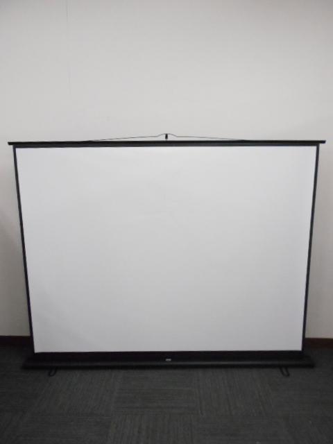 自立式 プロジェクタースクリーン 100インチの大型画面です!!