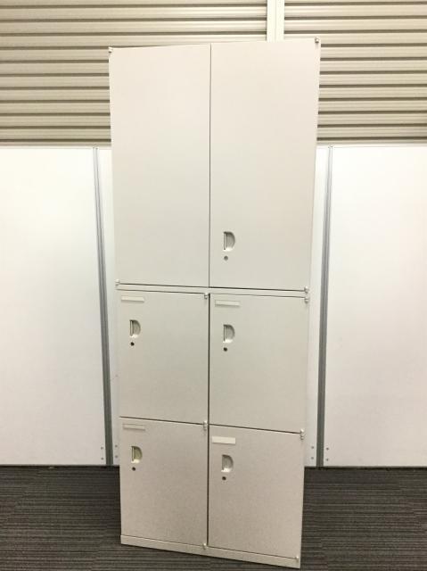 【超稀少!限定3台】上段:両開き 下段:メールロッカー 滅多に入荷の無い書庫セット!