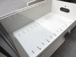 ■ナイキ製 片袖デスク W1000mm ■オフィスにフィットするニューグレー(中古)