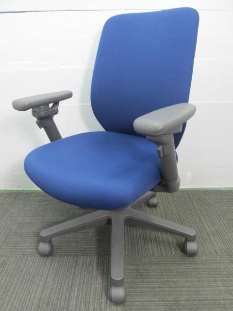 【ハイバックチェア】コクヨ製オフィスチェア 可能肘 クッション厚め