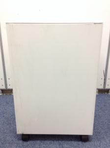 コスト重視のお客様必見 人気のホワイトカラー プラス製3段ワゴン(中古)