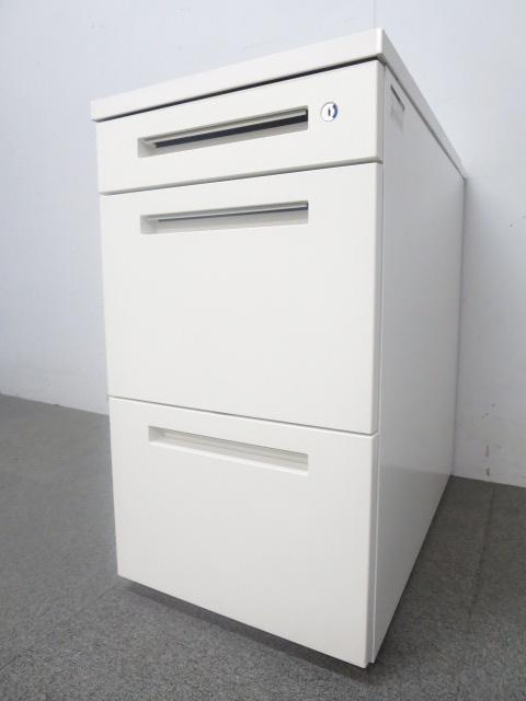 【フリアド用】■イトーキ 3段脇机 ホワイト H720mm ■CZR A4サイズ2段収納可能!机の横に並べて収納力・ワークスペースアップに是非!