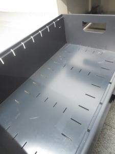 【収納・ワークスペースアップに是非!】■イトーキ 3段脇机 ■ホワイト H720mmタイプ(中古)