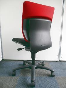 【残り2脚の為特別価格!】シンプルなオフィスチェア!【レッド×ブラックの配色】[ADFIT](中古)