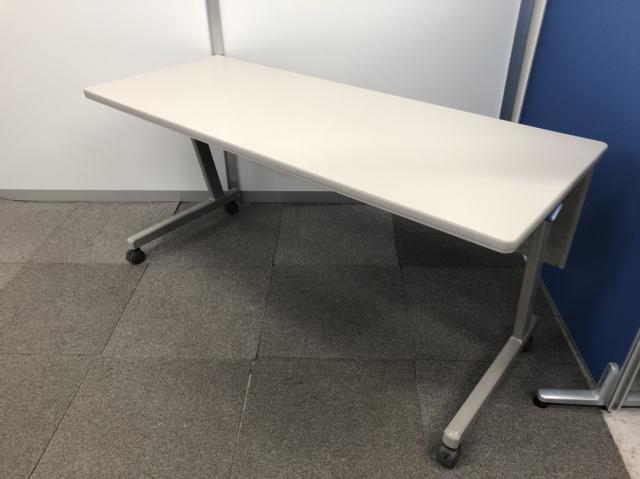 【幅1500mmのスタックテーブル!!】折り畳み式で会議室にぜひ!!