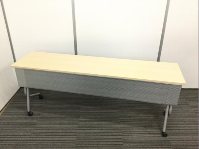 【4台入荷!】W1800 サイドスタックテーブル:天板ナチュラル【収納に便利!】