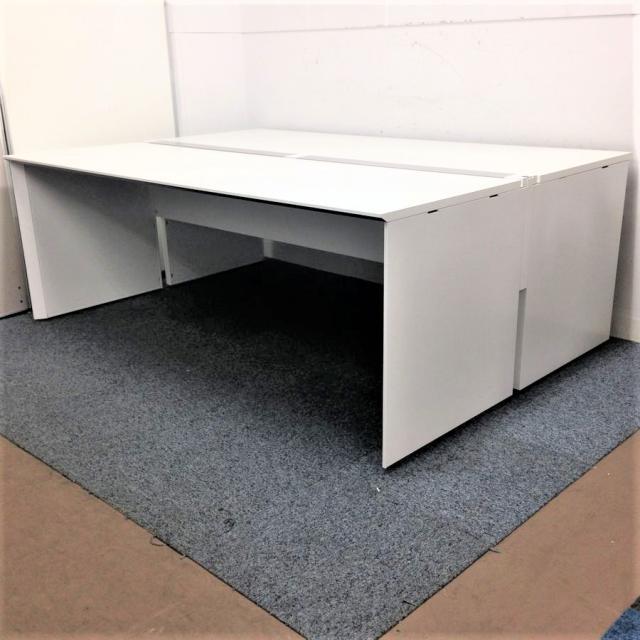 【大規模オフィスにも対応します!】幅4000mmのフリーアドレスデスク|コクヨ現行ワークヴィスタシリーズ※お写真は幅2000です