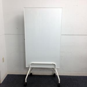 【スリムサイズ】【両面ホワイトボード、1台入荷!!】キャスター付きで別室への移動も楽々可能!|その他シリーズ(中古)