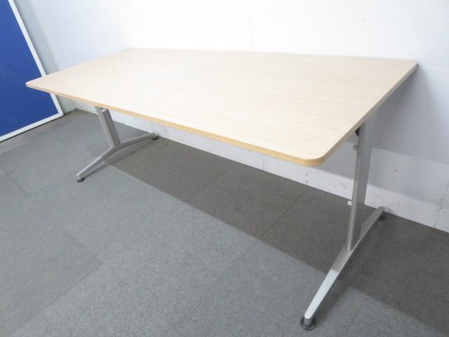 【シャープなデザイン!】■イトーキ ミーティングテーブル ■W1800mm【6人用】 ■ファインウォールナット