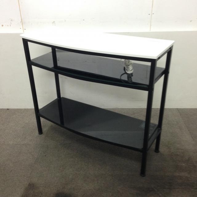 【電源タップ付き!】1台限定!ホワイトの綺麗なサイドテーブル!