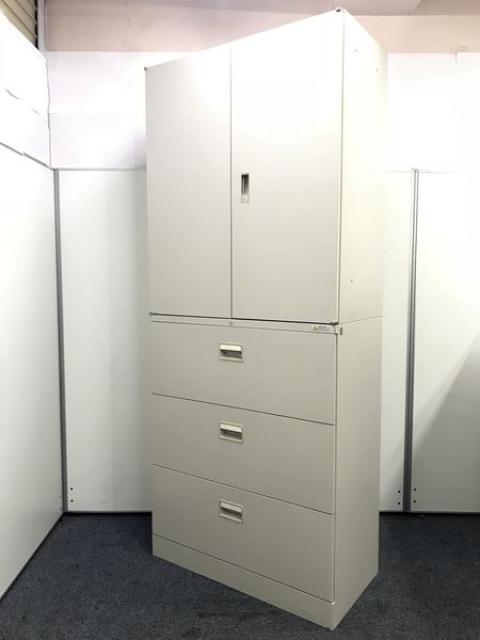 【オフィスの収納力UP】両開き+3段ラテラル 定番の組み合わせ=使いやすい