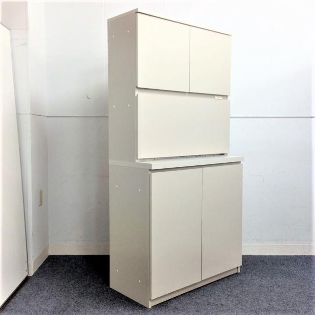 【便利収納】コクヨ ビジネスキッチン 食器収納ユニット ナチュラルグレーでオフィスに溶け込むカラーリング