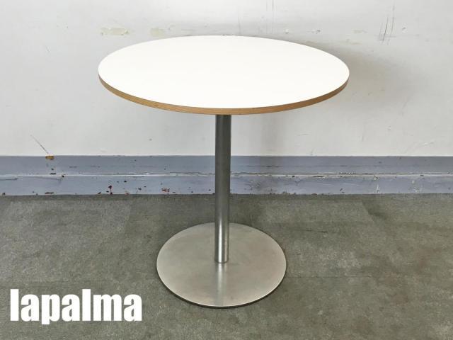 lapalma/ラパルマ BRIO/ブリオ ラウンドカフェテーブル 白