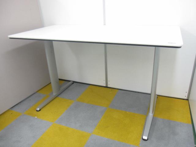 【高さ1000mm】【流行のスタンドアップミーティングに!】【ハイテーブル】【ホワイト天板】ミーティングテーブル