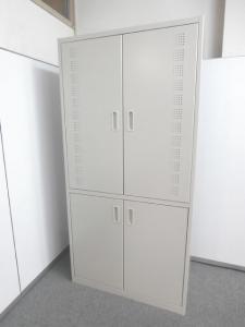 【キッチンキャビネット・食器や小物、電子レンジなどまとめて収納】■コクヨ製 ■キッチンキャビネット